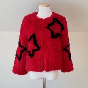 NWT Faux Fur Star Jacket
